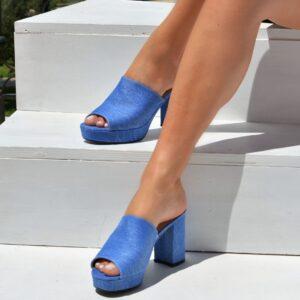 Γυναικεία mules m090 - Μπλε