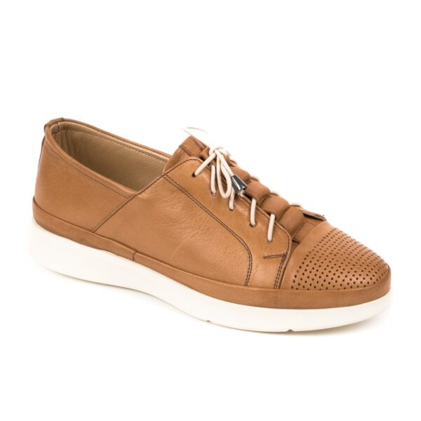 Γυναικείο δερμάτινο sneaker Boxer 96034 - Ταμπά