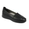 Γυναικείο δερμάτινο μοκασίνι/loafer Boxer 96035 - Μαύρο