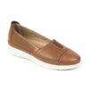 Γυναικείο δερμάτινο μοκασίνι/loafer Boxer 96035 - Ταμπά